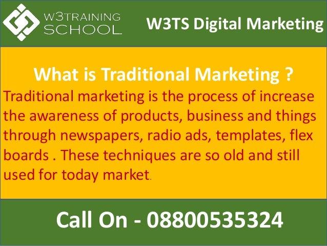 Digital marketing vs traditional marketing Slide 3