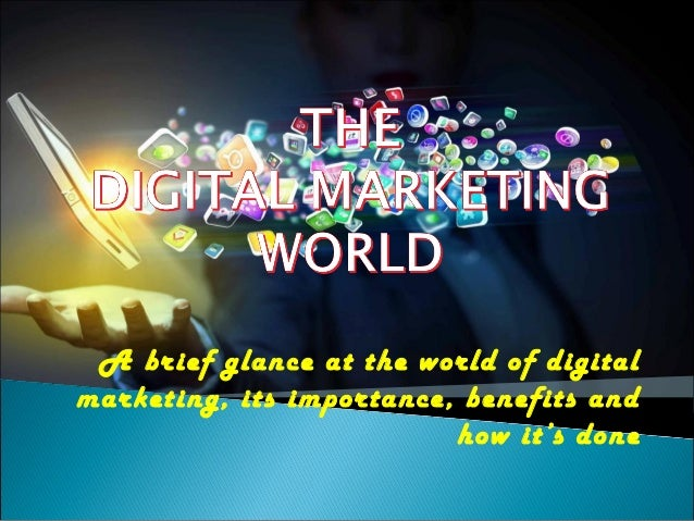 importance of marketing in todays business world Why is technology important in business  in today's busy business environment, it is necessary for employees to interact with clients quickly and clearly.