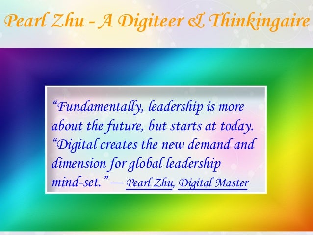 Pearl Zhu's Digital Executive Profile