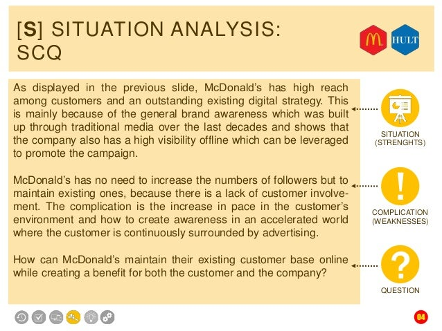 Situation of mcdonalds