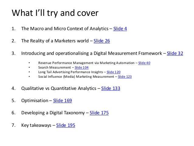 Digital Marketing Measurement Framework - Martin Walsh Slide 3