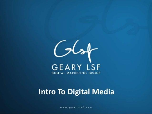 Intro To Digital Media