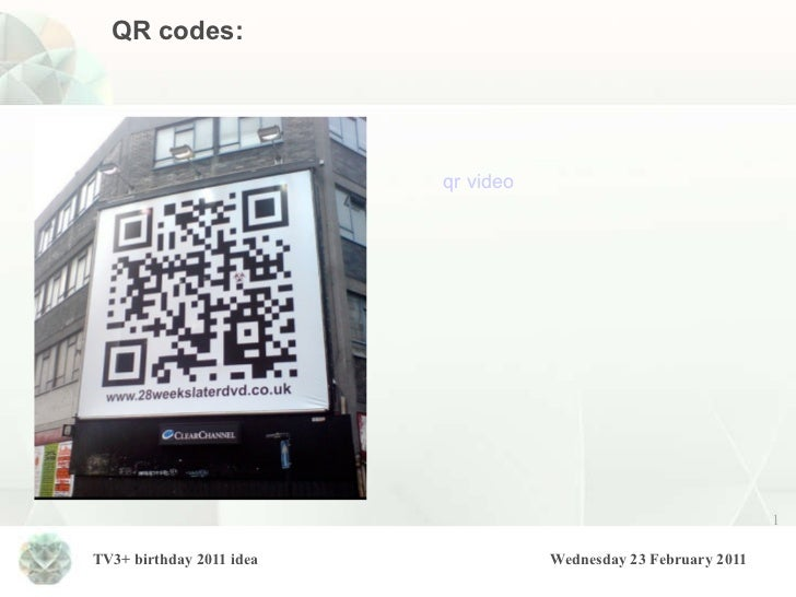 QR codes: qr  video