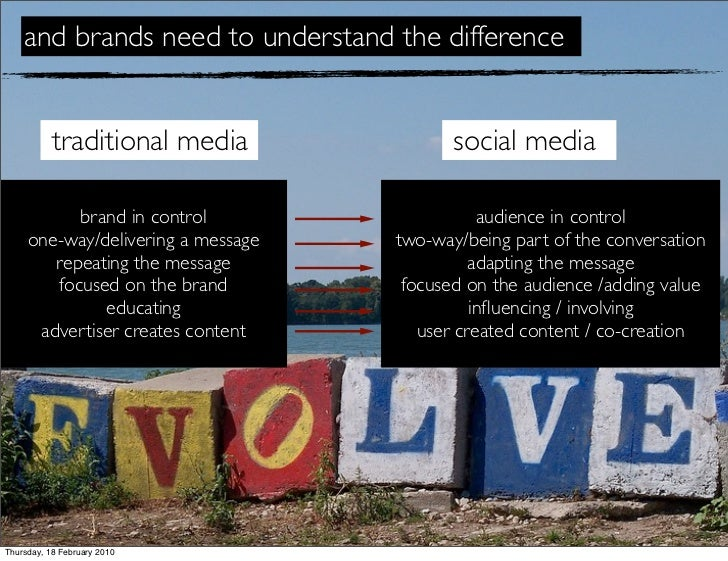 and brands need to understand the difference              traditional media               social media             brand i...