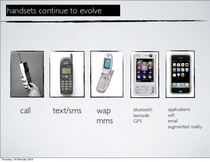 handsets continue to evolve                    call          text/sms   wap   bluetooth                                   ...