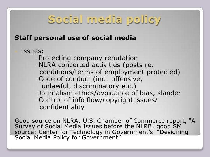 Digital media policy presentation