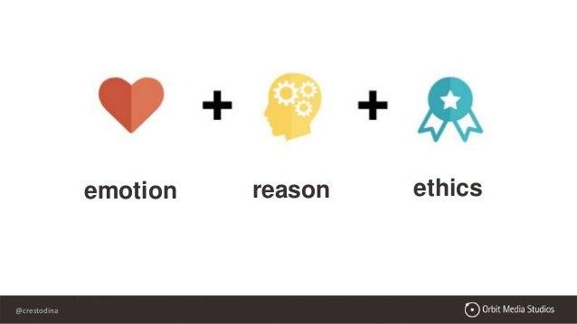 @crestodina emotion reason ethics