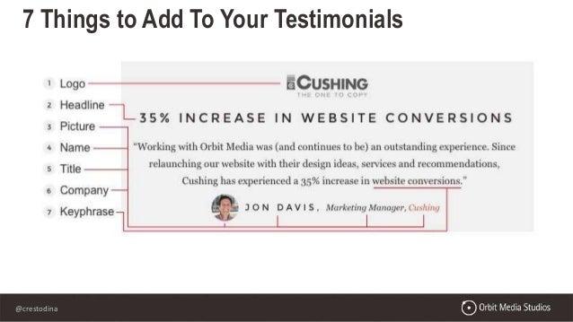 @crestodina 7 Things to Add To Your Testimonials