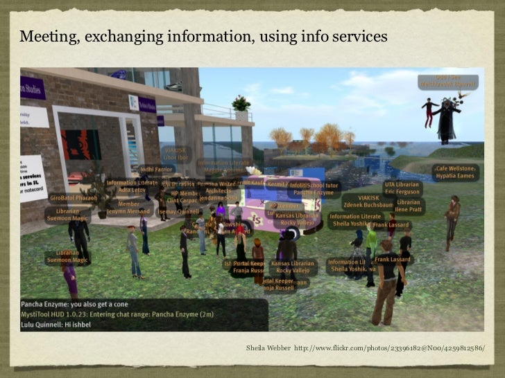Meeting, exchanging information, using info services                                Sheila Webber http://www.flickr.com/ph...