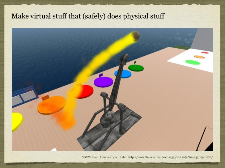 Make virtual stuff that (safely) does physical stuff                       SGVW team, University of Ulster http://www.flic...