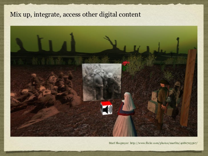 Mix up, integrate, access other digital content                                   Marf Shopmyer http://www.flickr.com/phot...