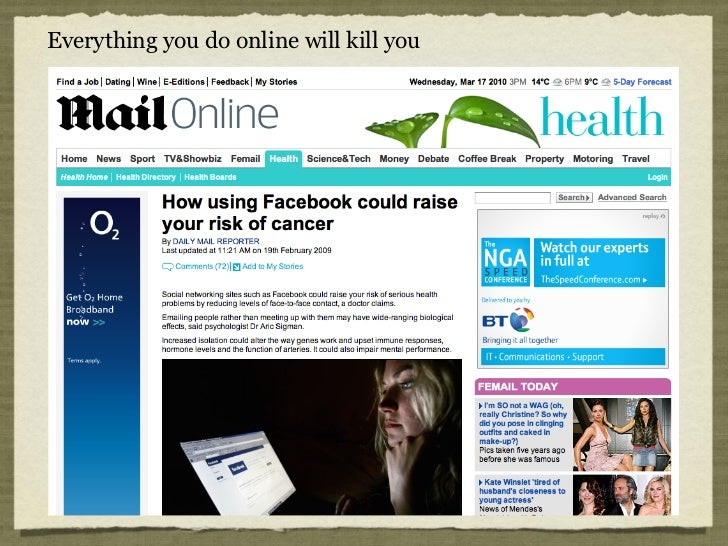 Everything you do online will kill you