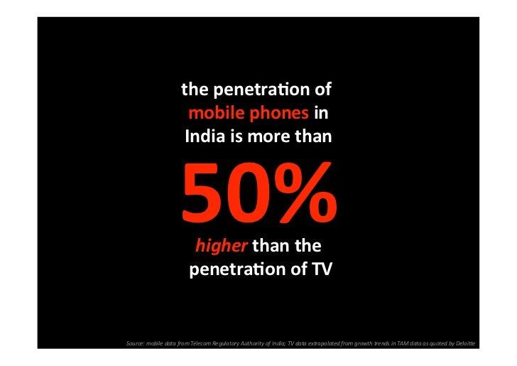 thepenetraSonof                       mobilephonesin                     Indiaismorethan                    50%...