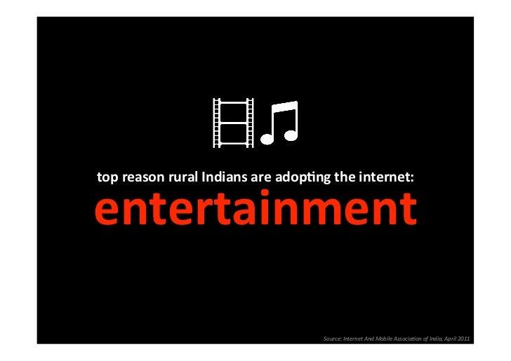 topreasonruralIndiansareadopSngtheinternet:                                                 entertainment         ...