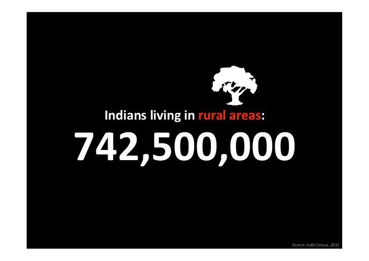 Indianslivinginruralareas:                              742,500,000                                  Source:IndiaC...