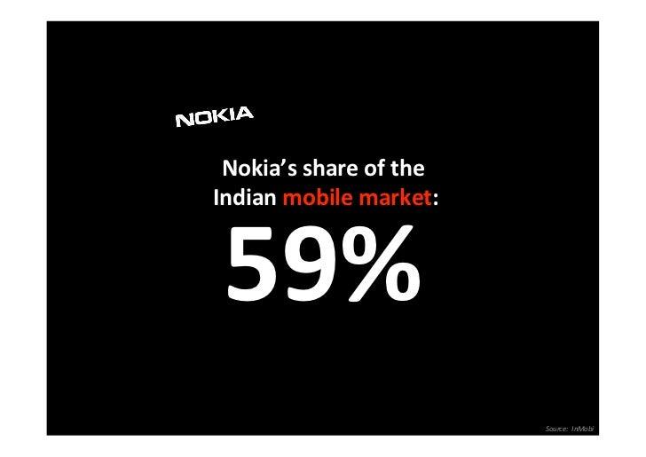 Nokia'sshareoftheIndianmobilemarket:  59%                           Source:InMobi                               ...