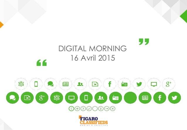 DIGITAL MORNING 16 Avril 2015