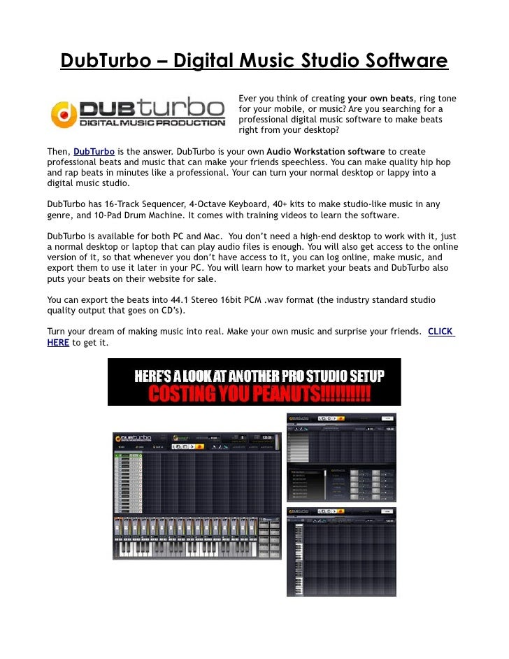 DubTurbo Digital Music Studio Software