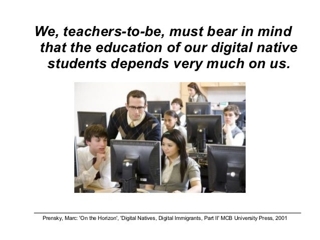 digital natives essay Posts about digital natives written by phillips academy john palfrey the second cluster of essays take up art and culture in the digital domain.