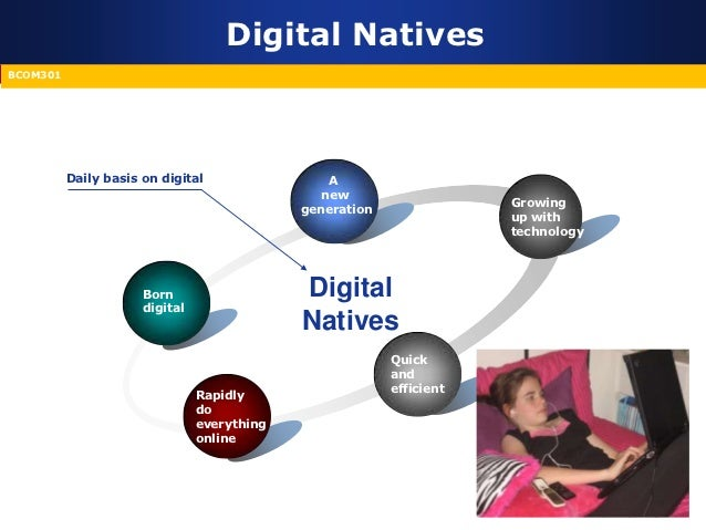 digital natives and digital immigrants and the differences among generation Information in fundamentally different ways compared to older generations  him,  characteristics of digital immigrants include: not going to the internet first for.