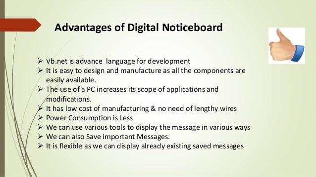 Digital noticeboard using vb