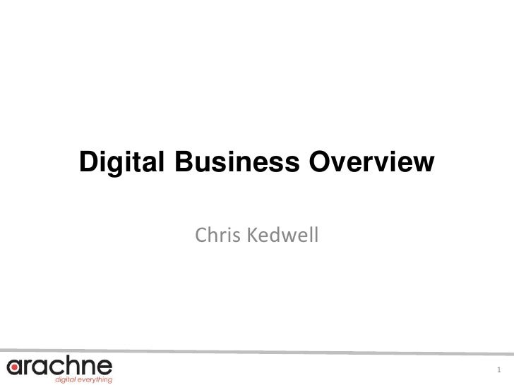 Digital Business Overview<br />Chris Kedwell<br />1<br />