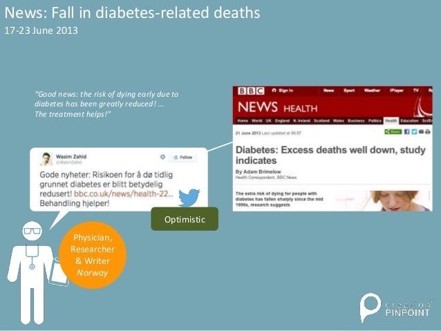 """News: Fall in diabetes-related deaths """"Good news: the risk of dying early due to diabetes has been greatly reduced! … The ..."""