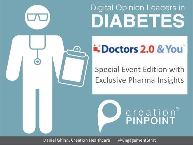 Digital Opinion Leaders in Diabetes The Worldwide HCP Social Media Study Daniel Ghinn, Creation Healthcare @EngagementStra...