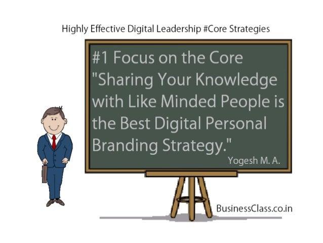 Digital Leadership Core Strategies - Digital Personal Branding Highly Effective Strategies for Sales & Marketing Professionals Slide 2
