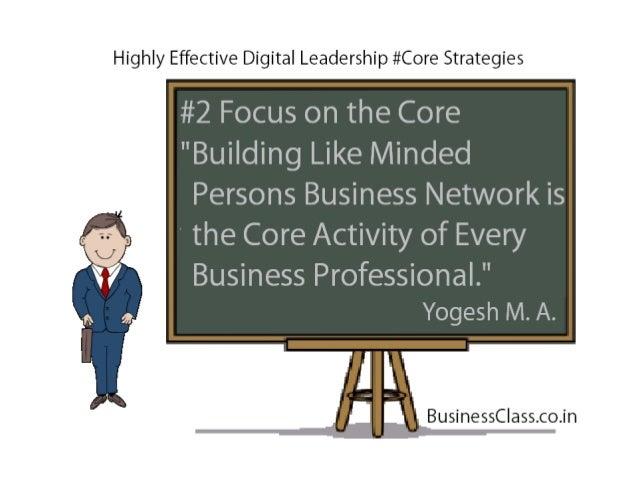 Digital Leadership Core Strategies - Digital Personal Branding Highly Effective Strategies for Sales & Marketing Professionals Slide 3