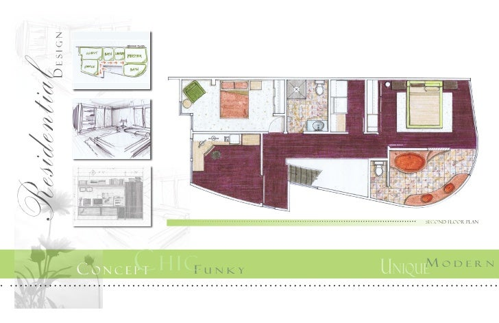 Design Residential Second Floor Plan C H I CF ConCept Unky Unique MoDern 13 P UBliC Vs