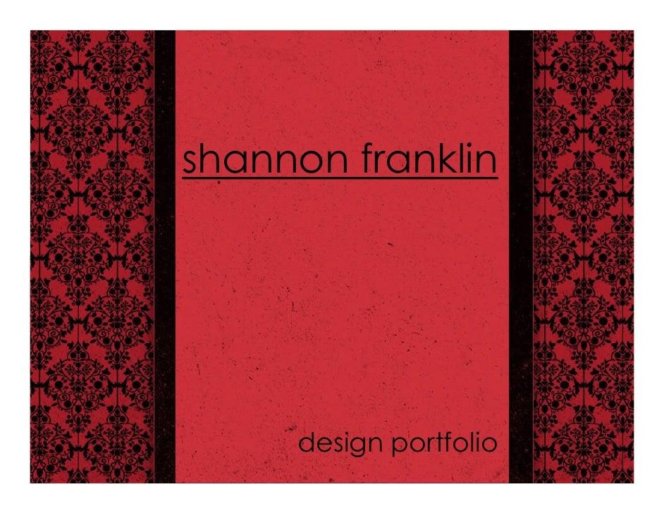 shannon franklin          design portfolio