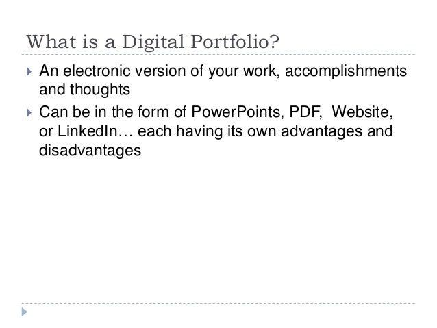 Digital Portfolios: Your Digital Narrative Slide 2