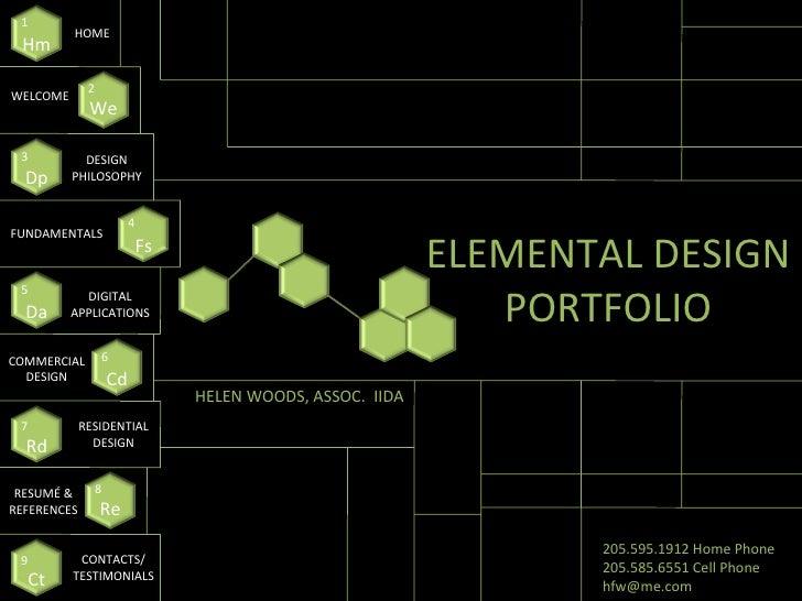ELEMENTAL DESIGN PORTFOLIO Hm 1 HOME We 2 WELCOME Fs 4 DESIGN PHILOSOPHY Da 5 DIGITAL APPLICATIONS Cd 6 COMMERCIAL DESIGN ...