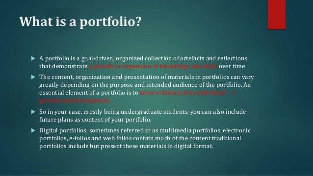 Digital portfolio 1 overview and examples
