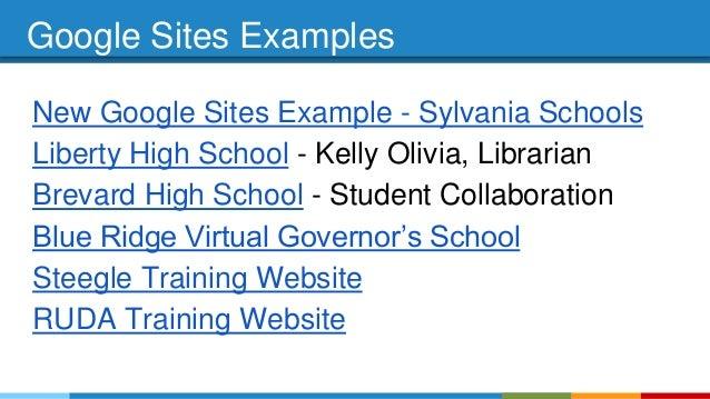 google sites examples
