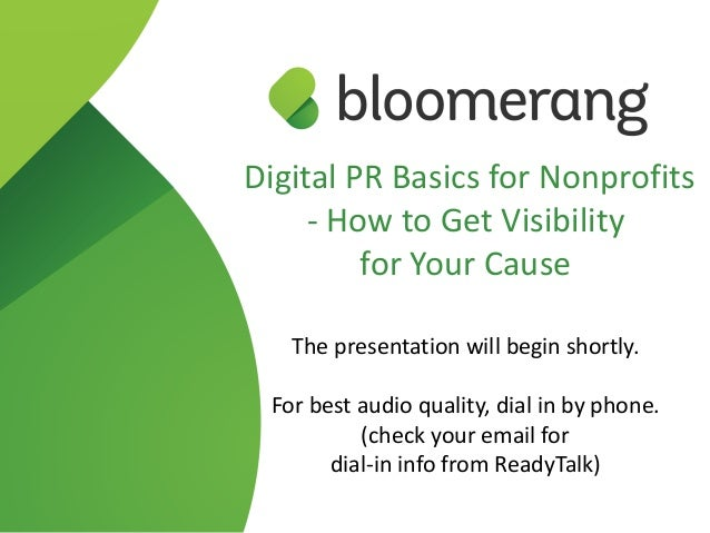 Digital PR Basics for Nonprofits - How to Get Visibility 