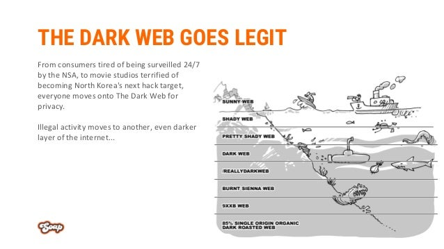 THE DARK WEB GOES LEGIT From consumers tired of being surveilled 24/7 by the NSA, to movie studios terrified of becoming N...