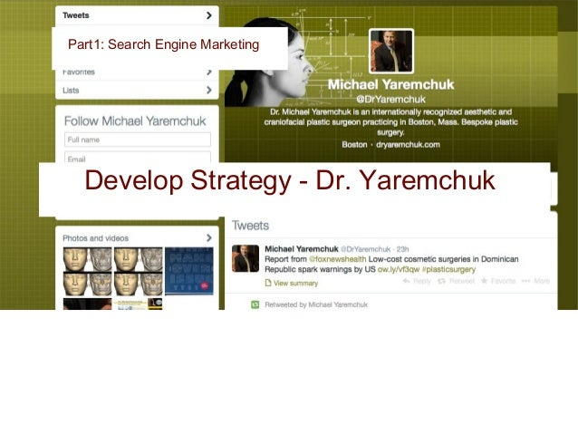 Traffic was down by 45% from last year observing analytics Part1: Search Engine Marketing