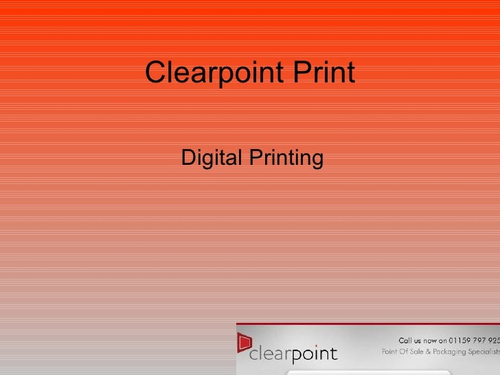 Clearpoint Print Digital Printing