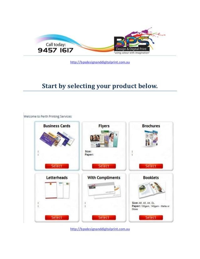 Perth printing services perth printing services httpbpsdesignanddigitalprint start by selecting your product below colourmoves
