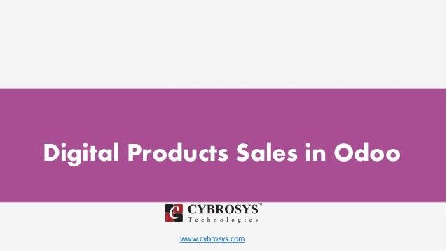 www.cybrosys.com Digital Products Sales in Odoo
