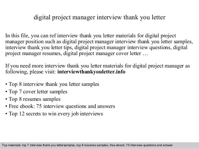 Digital project manager digital project manager interview thank you letter in this file you can ref interview thank expocarfo Images