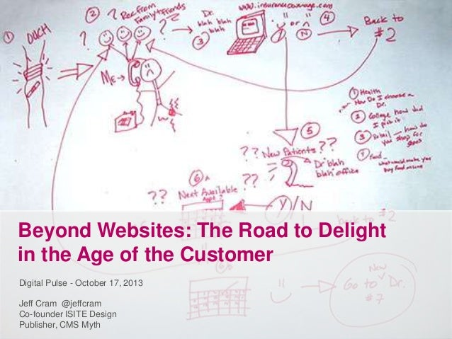 Beyond Websites: The Road to Delight in the Age of the Customer Digital Pulse - October 17, 2013 Jeff Cram @jeffcram Co-fo...