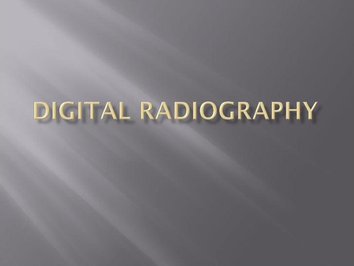 digital radiography