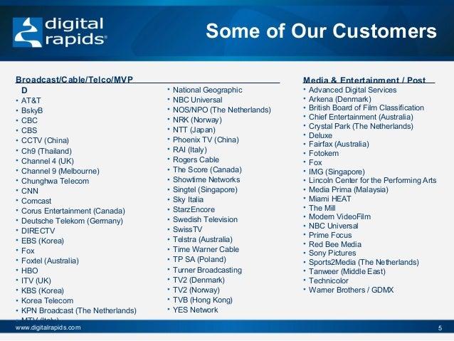 Digital rapids overview_2012