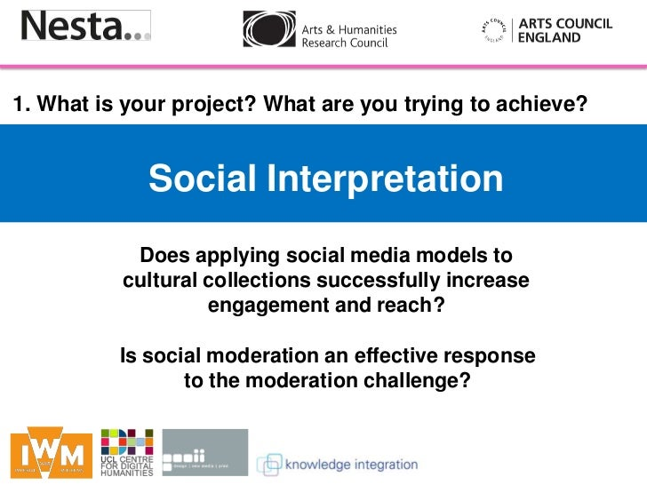 1. What is your project? What are you trying to achieve?             Social Interpretation               Does applying soc...