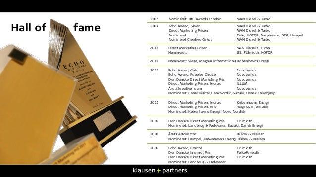 2011 Echo Award, Gold Novozymes Echo Award, Peoples Choice Novozymes Den Danske Direct Marketing Pris Novozymes Direct Mar...