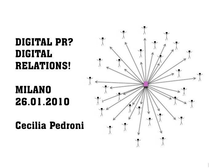 Digital PR? Digital Relations!