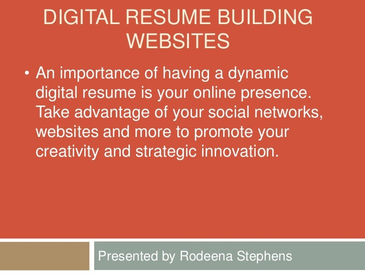 digital resume building workshop
